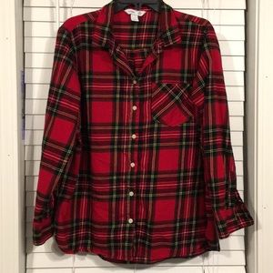 Old Navy Classic Shirt Flannel Plaid Size XL